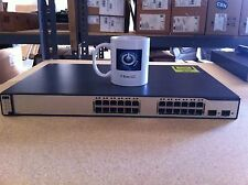 CISCO 24 Ethernet 2 SFP-based Gigabit Ethernet POE WS-C3750-24PS-S with IOS