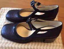 Orla Kiely Clarks, Amelia Blue Sparkle Shoes, Size 5, EUR 38, Vintage Style