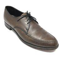 Men's 1950s Bostonian Flexaires Oxfords Shoes Size 9 A Brown Grain Leather AA15