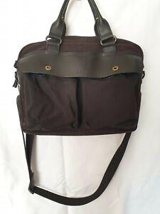 Paul Smith Leather and Canvas Messenger Bag Crossbody Bag