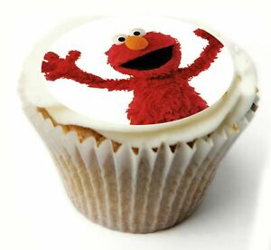 Cupcake Toppers Elmo personalised Rice paper Icing sheet 873