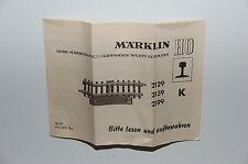 Märklin H0 - Original DESCRIPTION pour changement 2129 2139 2199-