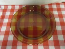 Fire King Anchor Hocking #460 Amber Glass Pie Plate - 9""