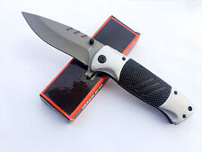 Assisted opening Folding Pocket Knife Steel Outdoor Tactical Travel Rescue Saber