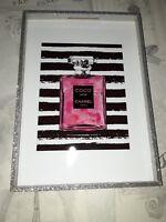 COCO CHANEL PERFUME WALL ART POSTER PRINT FASHION DESIGNER PERFUME NO5 BOTTLE