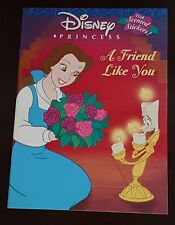BRAND NEW DISNEY PRINCESS A FRIEND LIKE YOU COLORING BOOK WITH SCENTED STICKERS