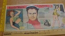 Rita Hayworth Ann Miller Seein' Stars Feg Murray 1940s Sunday color panel 2g