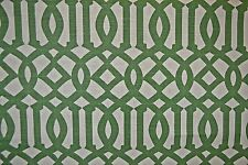House of KWID Linen Upholstery Fabric  Emperial Trellis BTY
