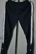 Mens Vintage Champion Athletic Trousers Tape Logo Track Bottoms Navy/ White  M