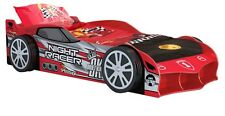 Red Racing Car Bed for boy, girl and kids + 2 FREE Pillows