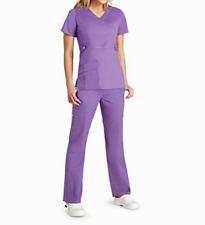 Medical Scrub Set Pop Stretch Adar Lavender Pant 3100/V Neck Top 3200 XL
