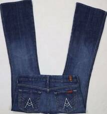 7 SEVEN FOR ALL MANKIND A Pocket Dark Wash Boot Jeans 26 Actual=30 x 29 MINT