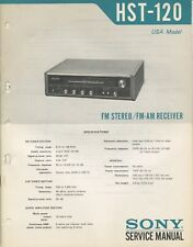 Sony HST-120 Original Stereo Receiver Service Manual