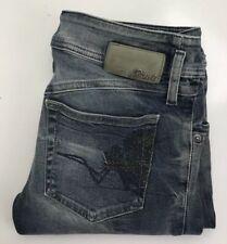 Diesel Matic Womens 30 Slim Tapered Distressed Denim Jeans
