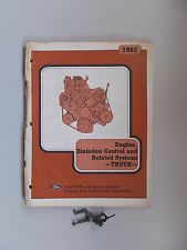 1987 Ford Truck Engine Emission Control Training Guide Manual *FREE SHIPPING*