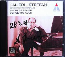 Andreas STAIER Signed SALIERI STEFFAN Piano Concerto CD Concerto Köln Fortepiano