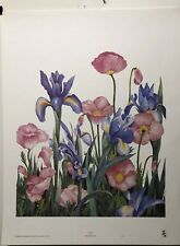 FINE ART LITHOGRAPH: Poppies by Dru Bell Byers 19 x 24