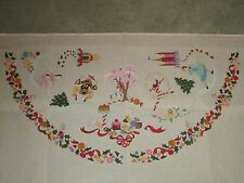 "RARE DEUX AMIS 50"" HALF RUG TREE SKIRT NUTCRACKER 2258 NEEDLEPOINT CANVAS"