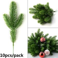 10pcs Artificial Pine Branches Artificial Christmas Xmas Ornaments Home Decors