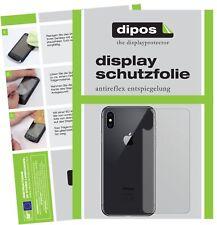2x Apple iPhone XS trasero Protector de Pantalla protectores mate dipos
