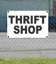 2x3 THRIFT SHOP Black & White Banner Sign NEW Discount Size & Price FREE SHIP
