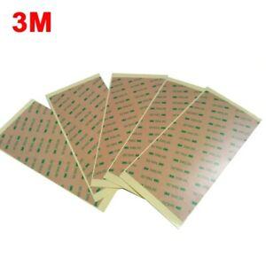 5 Feuilles 3M™ 300LSE 9495LE 200 x 100mm Adhésif Double Face Transparent Profi