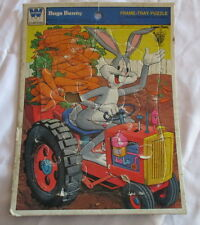 Whitman Frame-Tray Puzzle 1975 Bugs Bunny, All Pieces present but small chunk