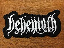 Behemoth Sew Iron On Patch Heavy Death Metal Logo Rock Band Embroidered Jacket