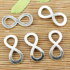 10pcs Tibetan silver number 8 connectors EF1339