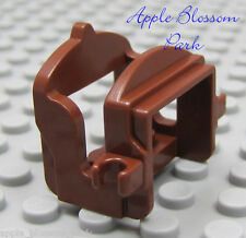 NEW Lego Minifig Reddish Brown Animal SADDLE for a Horse Camel or Cow -w/2 clips