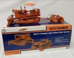 Allis Chalmers HD-21 w/ Offset Disk Harrow  1/25 Diecast Dozer FIRST GEAR
