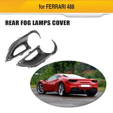 Carbon Fiber Rear Fog Light Cover Air Vent Fit For Ferrari 488 GTB Spider 15-17