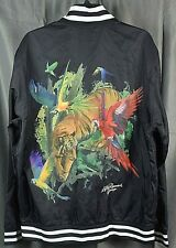 LRG LIFTED RESEARCH Men's Exotic Tiger Bomber Jacket. Black XL NEW