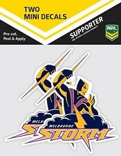 620013 Melbourne Storm NRL Set of 2 Mini Decals Car Stickers iTag
