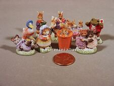 Beatrix Potter's Peter Rabbit Porcelain Miniatures Feves Set of 10 2015 version