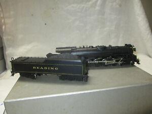 """Vintage N.J. Custom 'BRASS' """"READING"""" Class T-1 4-8-4  HO scale  1977"""
