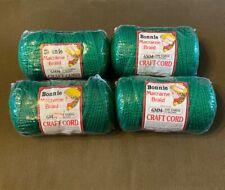 New listing Lot of 4 Rolls Kelly Green 6mm Bonnie Braid Braided Macrame Craft Cord 400yds