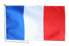 More details for france flag with rope and toggle - various sizes