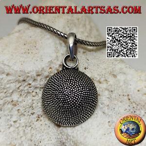 Silber Anhänger 925‰ Hemisphärische Besteht Von Micro-Sfere A Mosaik