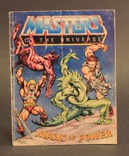 1983 Mattel Masters Of The Universe MASKS OF POWER mini comic (damaged cover)