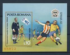 [59307] Romania 1981 World Cup Soccer Football Spain Imperforated MNH Sheet