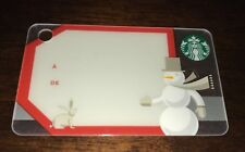 "STARBUCKS CANADA MINI CARD ""GIFT TAG"" CHRISTMAS SNOWMAN NO VALUE NEW FRENCH RARE"