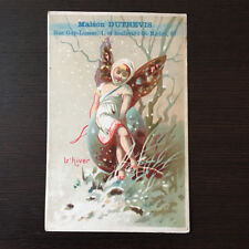 Chromo Advertising Home Dutrevis Seasons WINTER Fairy - Winter Fairy