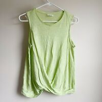 J Jill Love 100% Linen Twist Draped Front Sleeveless Blouse Tank Top Size Small