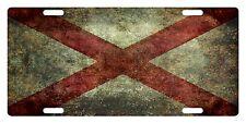 ALABAMA State Flag Custom License Plate State Emblem Version 3