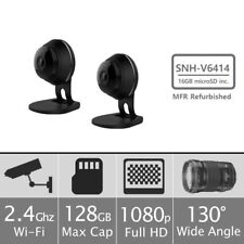 (2) Samsung SNH-V6414BN SmartCam HD Plus 1080p Wi-Fi Security Camera w/16GB Card