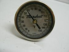 "MARSHALL B-367 THERMOMETER 0-150 DEGREE F 2 1/2"" O/D DIAL 2"" STEM 2 1/2"" O/A"