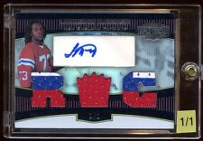 LAURENCE MARONEY 2006 TOPPS RC AUTO 1/1 TRIPLE THROWBACK PATCH LOGO    RARE 1/1