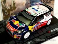 1/43 CITROEN DS3 WRC LOEB RALLY MEXICO 2011 IXO EAGLEMOSS DIECAST