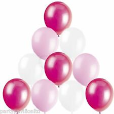 Girls Balloons Birthday Party Christening Communion 30 Baby Pink White Fushia